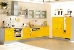 #Küche in Gelb #Eckküche www.dyk360-kuechen.de