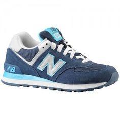 new balance 574 blue and white
