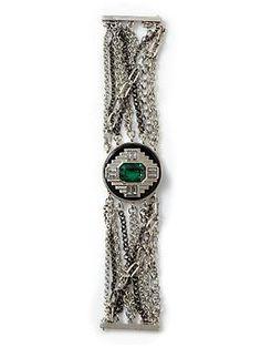 Sabine Art Deco Medallion Bracelet | Piperlime