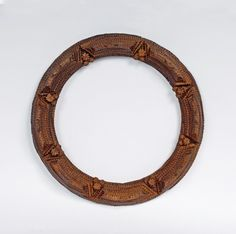 Round Frame with Inset Hearts