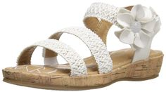 BOC Kids Emily WHT W/Cork Wrap Wedge Sandal (Toddler/Little Kid) > You can find more details here : Girls sandals
