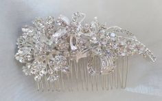 Bridal Hair Comb Wedding Hair Comb Wedding Hair by AbbyPlace, $47.95 Dainty yet shows a statement very pretty piece.
