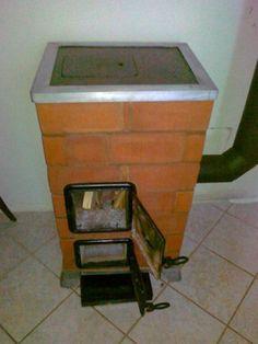 Hordozható Téglakályha Outdoor Stove, Cooking Stove, Rocket Stoves, Design Case, Ovens, Four, Rockets, Brick, Pottery