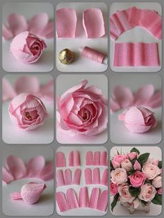 Handmade Flowers, Diy Flowers, Fabric Flowers, Paper Flowers Wedding, Tissue Paper Flowers, Crepe Paper Roses, Paper Flower Art, Paper Peonies, Wedding Bouquet
