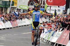 Marc De Maar (UnitedHealthcare Pro Cycling Team) soloed to victory in stage 5 at the Tour of Britain.  cyclingnews.com photo by: Rob Lampard ... WAY TO GO UNITED HEALTHCARE!