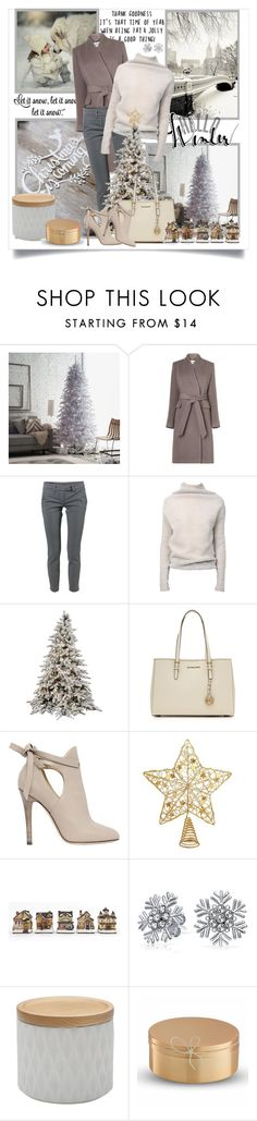 """""""Christmas is coming! 12 days countdown"""" by danielle-broekhuizen ❤ liked on Polyvore featuring WALL, L.K.Bennett, Dondup, Rick Owens, MICHAEL Michael Kors, Jimmy Choo, Bling Jewelry and Wedgwood"""