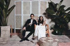 This Couple Added Local, Eco-Friendly Details to their Tropical Chic, Filipiniana Wedding Filipiniana Wedding Theme, Wedding Dresses, Wedding Looks, Bridal Looks, Bride And Breakfast, Modern Minimalist Wedding, Alternative Bouquet, Themes Photo, Wedding Reception Decorations