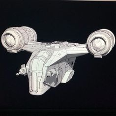 WIP Razor Crest, The Mandalorians Ship. Bit tricky finding decent ref so it's not accurate but It'll be something I update as more ref… Spaceship Art, Spaceship Concept, Star Wars Clone Wars, Star Wars Art, Mandalorian Ships, Marvel Cosplay Girls, Sw Rebels, Nave Star Wars, Star Wars Spaceships
