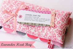 Simple Handmade Gifts – Part Six.   Make your own lavender heat bag.