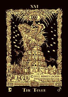 Most Beautiful Tarot Decks | The Lie That's True: Book of Azathoth Tarot
