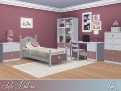 The Sims Resource: Leila Bedroom by Lulu265 • Sims 4 Downloads