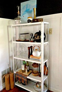 How To Make An Industrial Dining Room Shelf