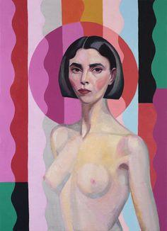 Nude Self-portrait, after Rah Fizelle oil on linen 2016 Portia Geach Finalist Poet, Self, Bodies