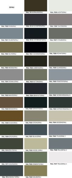 Overview of RAL colors beautiful pins Diy Interior, Scandinavian Interior, Interior Paint, Living Room Ideas 2019, Living Room Grey, Ral Paint, Ral Color Chart, Ad Home, Ral Colours