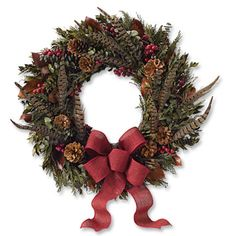 Wreath with pheasant feathers - have pheasant & turkey feathers I could use