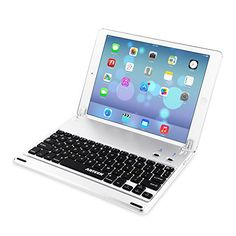 The Arteck Ultra-Thin Bluetooth Keyboard Folio Case Cover is specially designed to fit the iPad (5th generation 2017) and the iPad Air 1st Generation. It has a thin, lightweight design with a Built-In Stand Groove that allow the iPad be tilted up to 130 degree to provide the most comfortable viewing position.