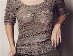 fcf8663897 Inspirações de Croche com Any Lucy  Linda Blusa!!! Blusa Croche De Grampo