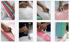 DIY lamp made of rice paper - Papieren rijstbol met een patchwork van verschillende soorten papier. Kijk voor de werkbeschrijving op www.101woonideeen.nl.