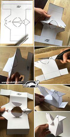 Bird paper origami 62 New Ideas Bird Crafts, Animal Crafts, Easter Crafts, Diy Arts And Crafts, Diy Crafts For Kids, Art For Kids, Diy Papier, Bird Sculpture, Paper Toys