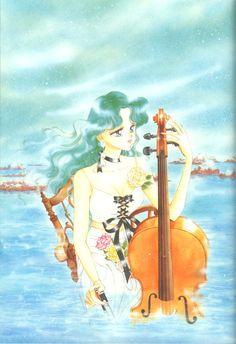 Michiru Kaiou Sailor Neptune Senshi Play Cello School College Backpack Bag