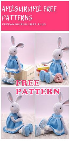 plus Amigurumi Girl Bunny Free Crochet Pattern – Amigurumi Free Msa.plus The post Amigurumi Girl Bunny Free Crochet Pattern – Amigurumi Free Msa. Amigurumi Free, Crochet Patterns Amigurumi, Crochet Toys, Crochet Mask, Amigurumi Doll, Crochet Animals, Easy Knitting Projects, Easy Knitting Patterns, Crochet Gratis
