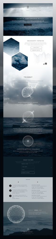 Web design concept light layout #inspiration #webdesign