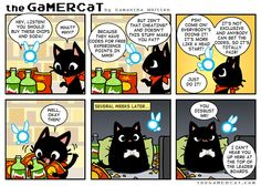 The GaMERCaT is Awesome // tags: funny pictures - funny photos - funny images - funny pics - funny quotes - Cat Comics, Funny Comics, Gamer Cat, 4 Panel Life, Look At My, Kitty Games, Zelda, Funny Games, Manga