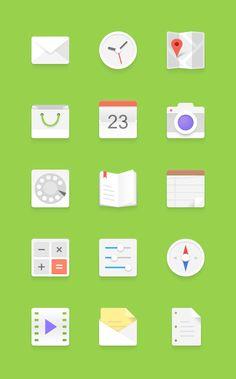 Android flat Icons Set #flatdesign #icon