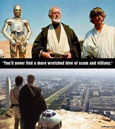 The force is strong with these memes. Including Obama and Trump, Star Wars memes offer a funny take on the controversial world of politics. Star Wars Humor, Obi Wan, Elder Scrolls, I Laughed, Laughter, Funny Pictures, Funny Pics, Funniest Pictures, Funny Memes