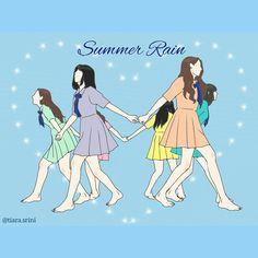 Gfriend And Bts, Summer Rain, Kdrama, G Friend, Kpop Fanart, Korean Girl Groups, Mini Albums, Anime, Fan Art
