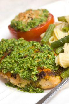 Easy Chicken with Spinach Pesto - Sugar & Spice by Celeste