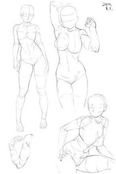 Drawing The Human Figure - Tips For Beginners - Drawing On Demand Sketch Manga, Manga Drawing, Drawing Sketches, Art Drawings, Anatomy Drawing, Anatomy Art, Art Poses, Drawing Poses, Figure Drawing Reference