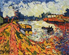 The Seine at Chatou, by Maurice de Vlaminck. The world dissolves itself into colors.