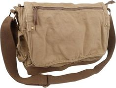 Vagabond Traveler Casual Style Canvas Messenger Bag  - via eBags.com!