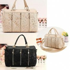 $ 7.27 Women's Handbag Oblique Carry Casual Big Bag Retro Lace Bags