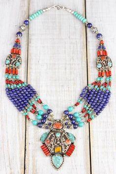 4044c414eb8d Amazing Tibetan Showpiece Necklace. Joyas TibetanasTibetanoJoyería Étnica Collares ...