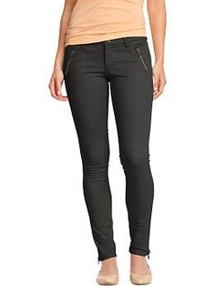 Women's The Rockstar Zip-Pocket Pants | Old Navy - you would look so cool in these! Choose from Gray Charles or LIvely Ivy. (http://oldnavy.gap.com/browse/product.do?cid=86215=1=330930012)