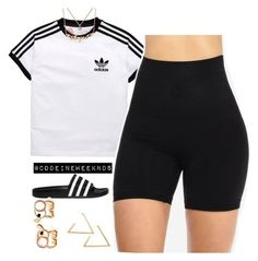 A fashion look from September 2017 featuring adidas Originals sandals and Nanazi Jewelry necklaces. Browse and shop related looks. Cute Swag Outfits, Chill Outfits, Dope Outfits, Short Outfits, Casual Outfits, Summer Outfits, Polyvore Outfits, Polyvore Fashion, Teen Fashion