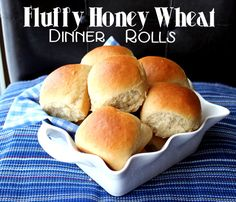 Fluffy Honey Wheat Dinner Rolls from Jamie Cooks It Up!