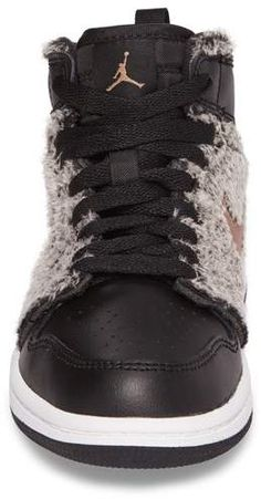 best sneakers 2ac31 c0a1b Nike Air Jordan 1 Retro Faux Fur High Top Sneaker  nike  airjordan  fauxfur   ad