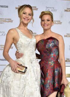 Elizabeth Banks and Jennifer Lawrence at an event for The Hunger Games: Mockingjay - Part 1 (2014)