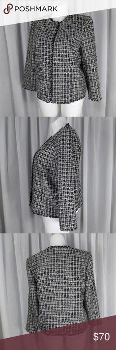 NWT Ann Taylor Shirred Sleeve Metallic Stripe  Top  $54 Gray   NEW