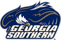 Georgia Southern Eagles Primary Logo (2004) - Eagle standing in attack position on script