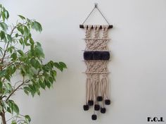 Macrame with pompons