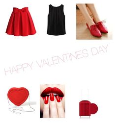 """Happy Valentine's Day"" by sierra-rohan ❤ liked on Polyvore featuring Chicwish, Pretty in Boots, Essie, women's clothing, women, female, woman, misses and juniors"