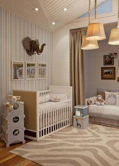 Quartos de bebê: tendência safari para quartos unissex