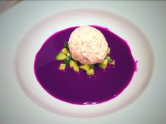 Red Cabbage Gazpacho with Mustard Ice Cream - Fine Dining Recipes | Food Blog | Restaurant Reviews | Fine Dining At Home