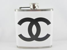Chanel Inspired Flask 6oz Stainless Steel Flask. $20.00, via Etsy.