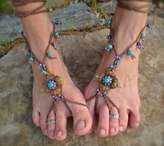 free pattern for footless scandals | BAREFOOT sandals mustard yellow brown belly dance yoga beach sandals ...