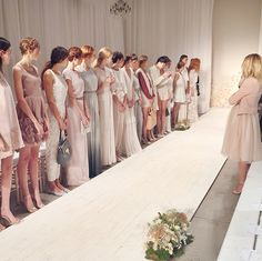 Before the show began, Lauren did a first look at all the models!